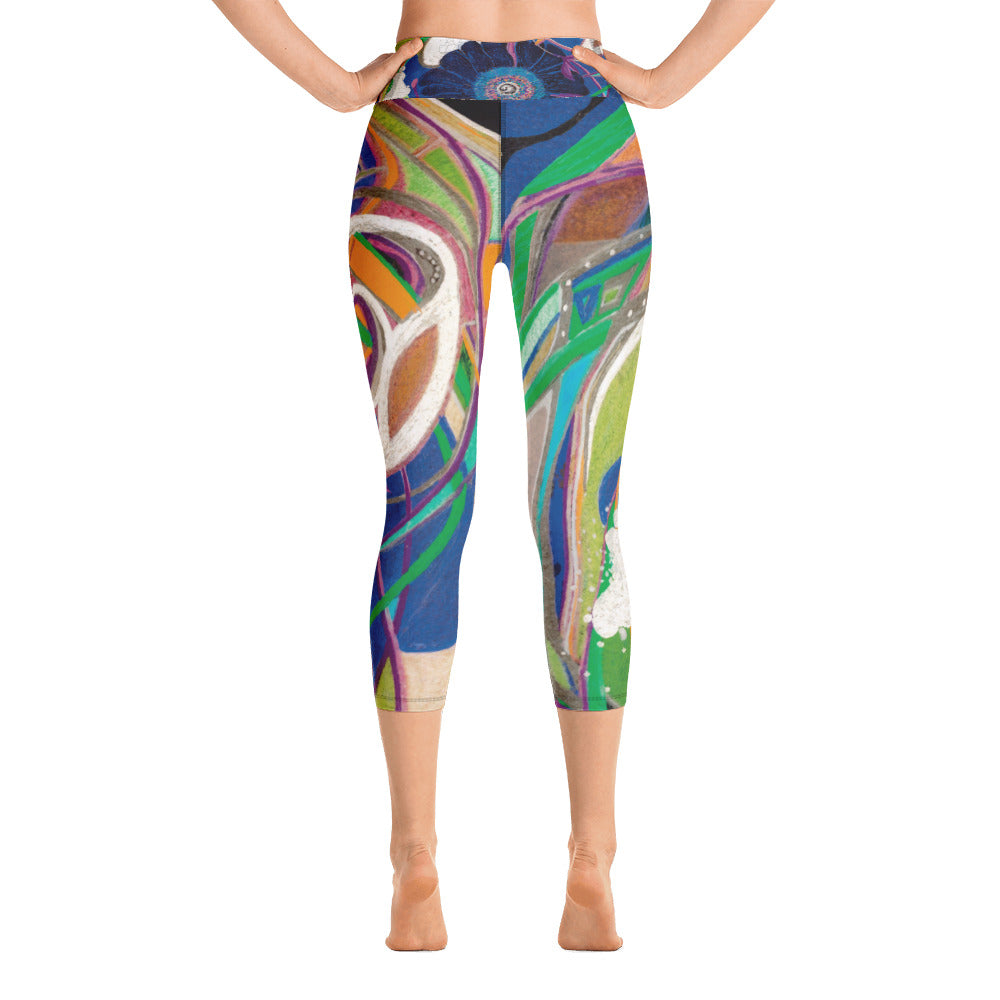 """Nicole's Abstract II"" High-Waist Capris P"