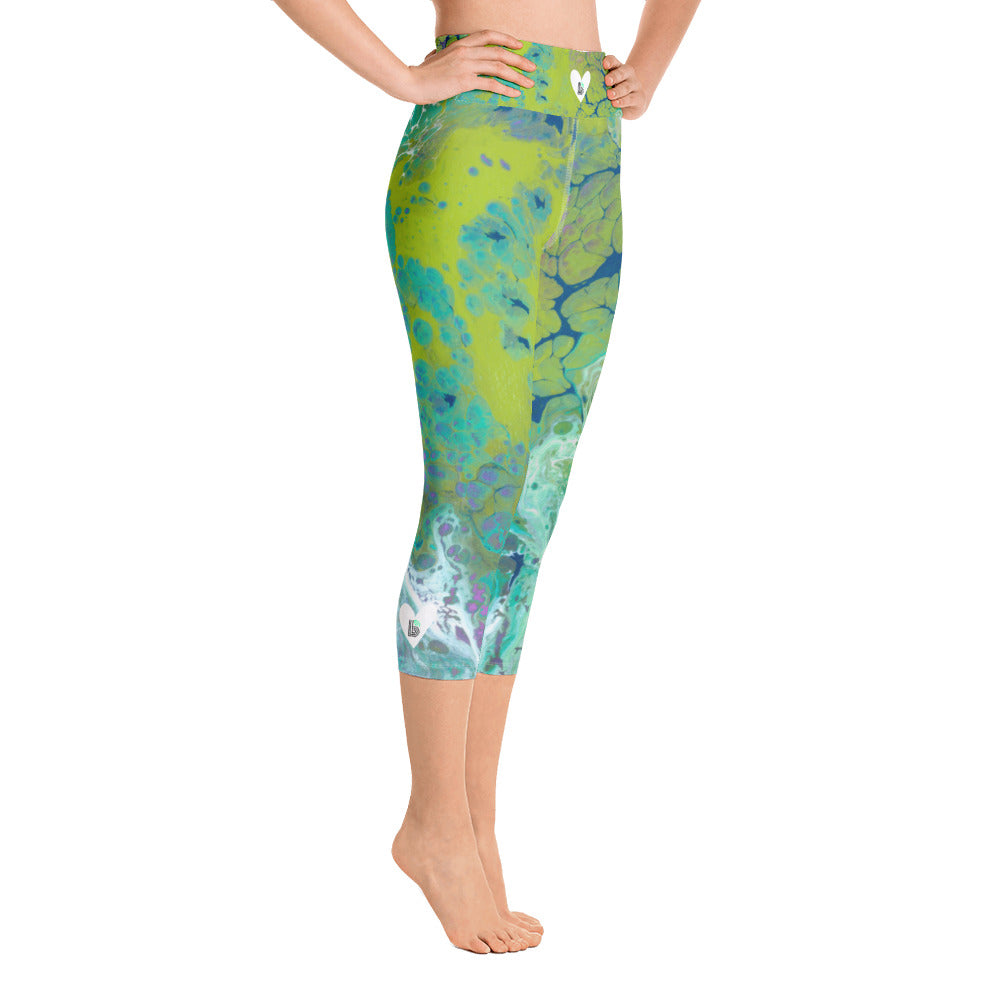 """Fluid Lime BBBS"" High-Waist Capris P"