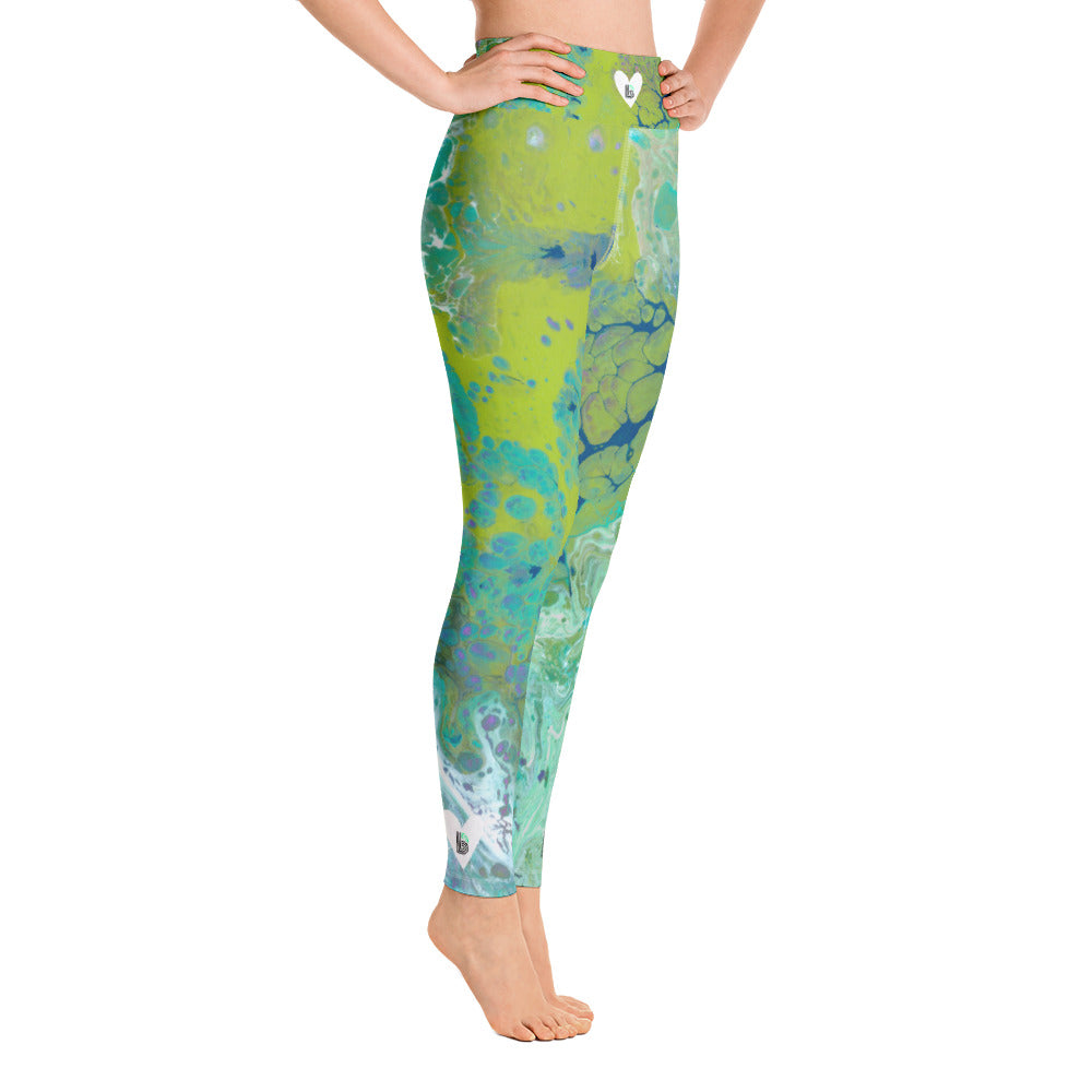 """Fluid Lime BBBS"" High-Waist Leggings P"