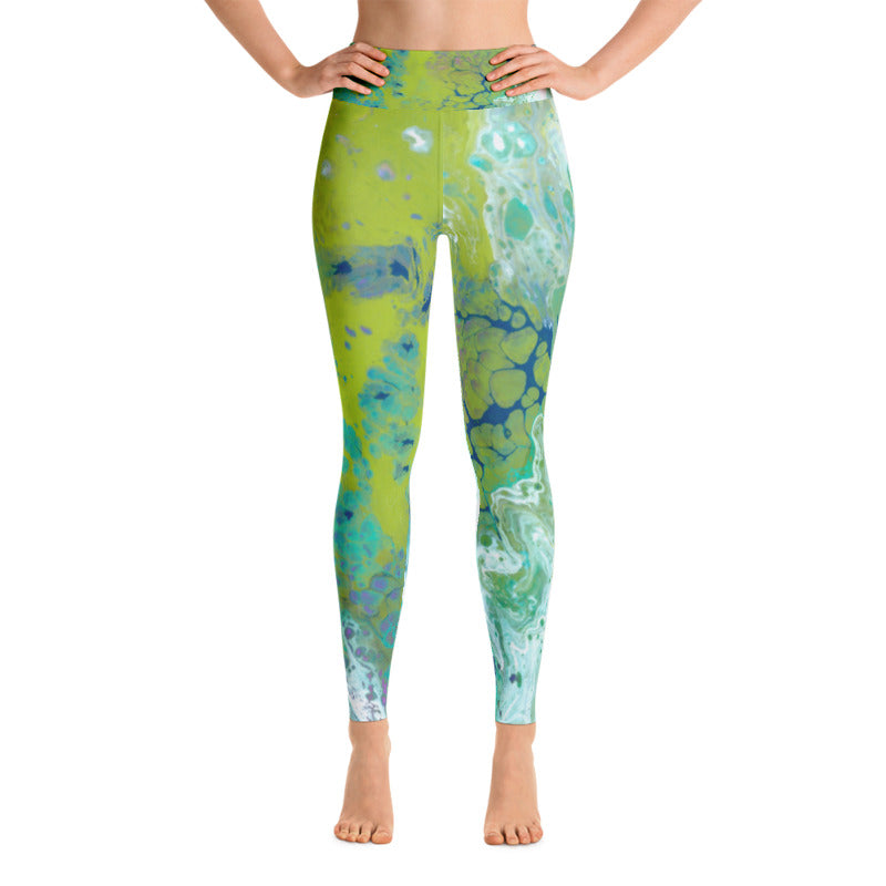 Fluid Lime Leggings