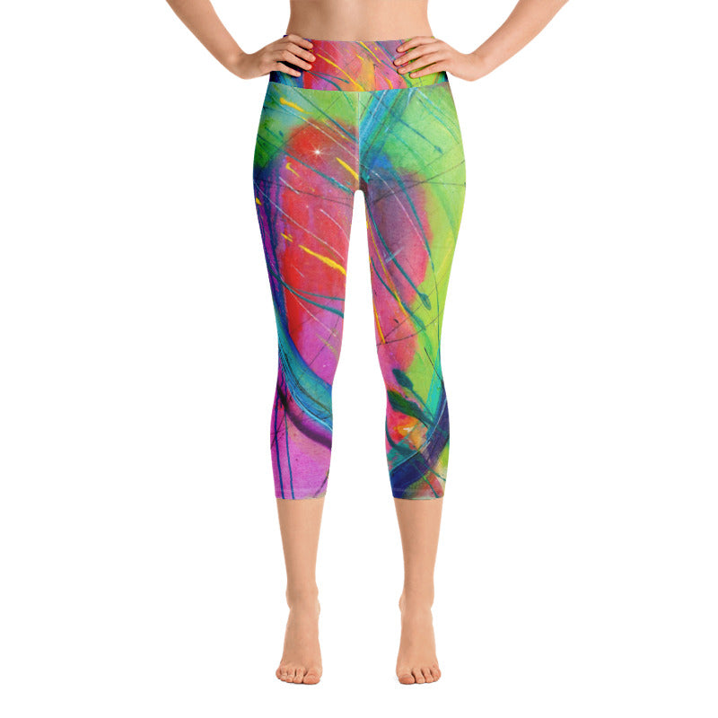 Heart of Color Art Athleisure Capri Front