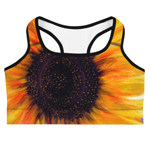 """Big Sunflower"" Sport Bra"