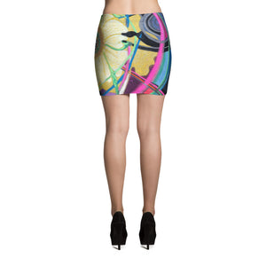 """Nicole's Abstract"" Miniskirt"