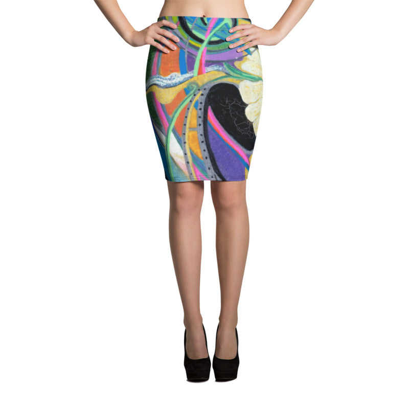 """Nicole's Abstract"" Pencil Skirt"