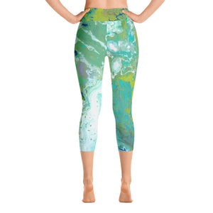 Fluid Lime Capri Back