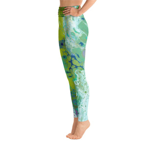 Fluid Lime Leggings Side 2