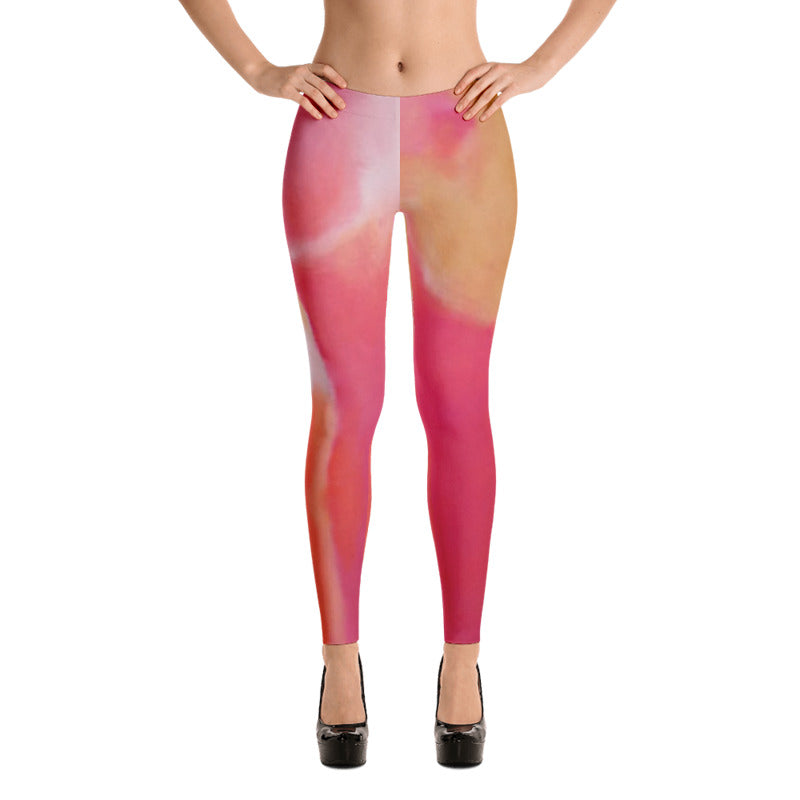 Pink and Coral Leggings Low Front