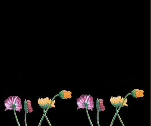 """Flowers on Black II"" Fine Art Leggings for Kids"