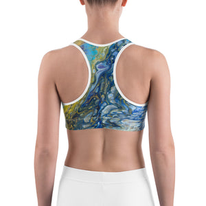 """Fluid Peacock"" Sports Bra"