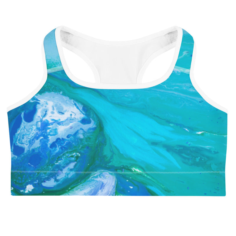 """Fluid Turqouise"" Sports Bra"