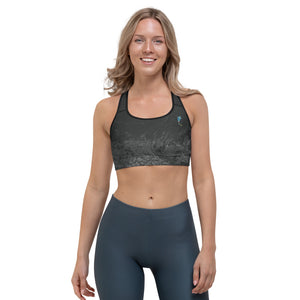"""Fluid Black and Grey CCC"" Sports Bra P"