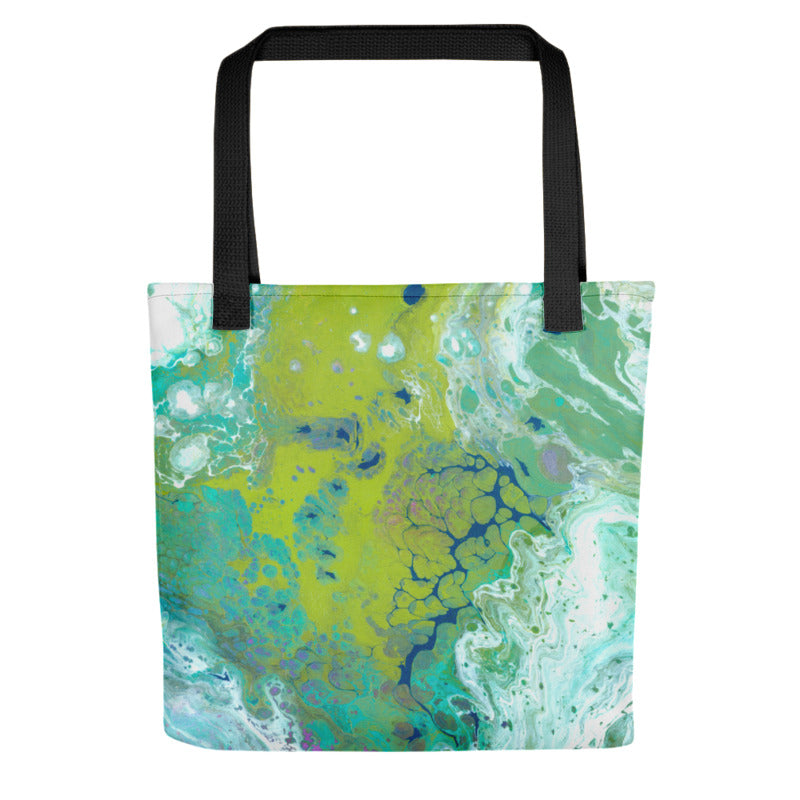 """Fluid Lime"" Tote Bag"