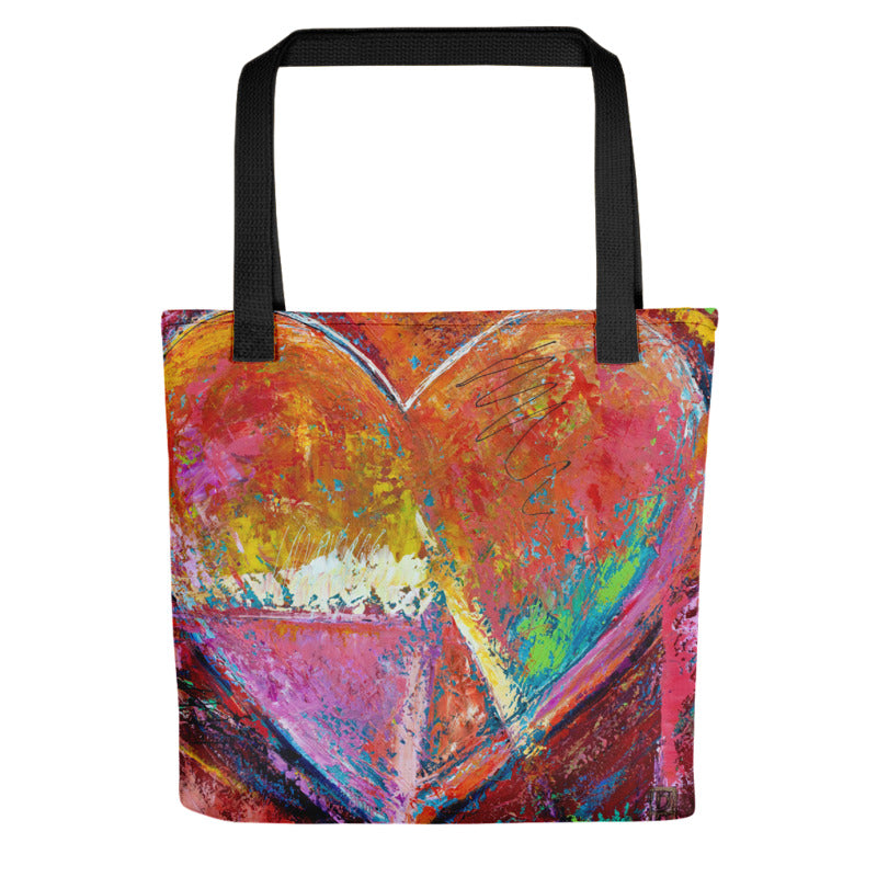 """Coral Heart"" Tote Bag"