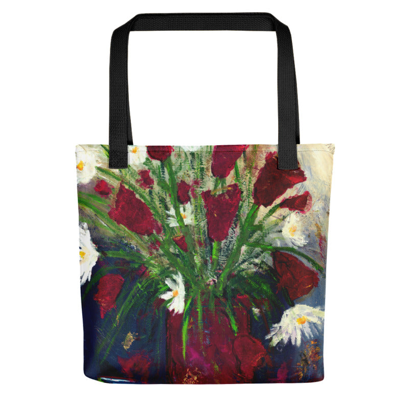 """Red Tulips"" Tote Bag"