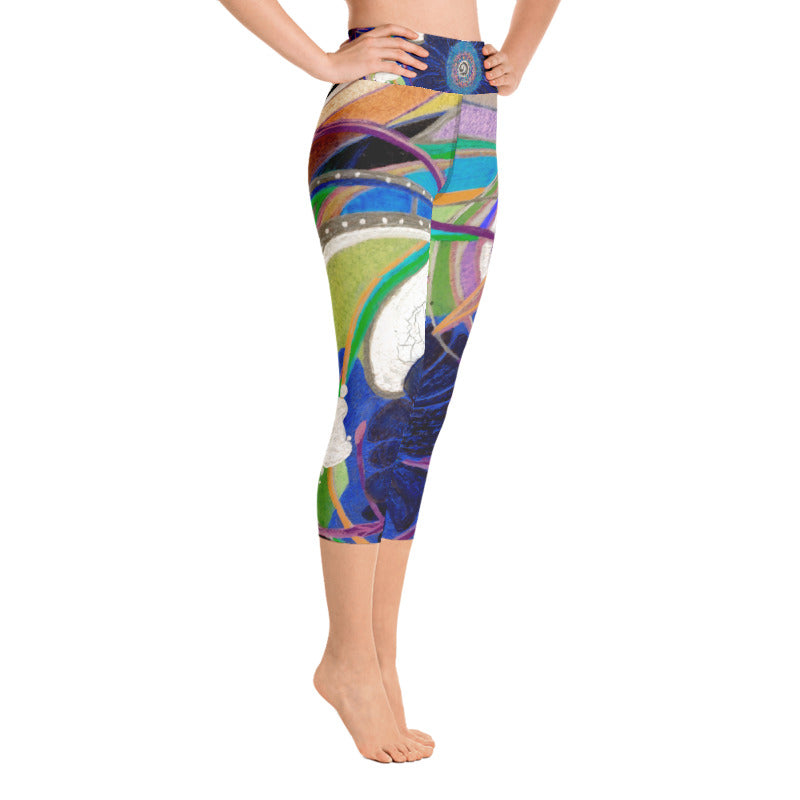 """Nicole's Abstract II"" Art Athleisure Capris"
