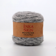 Load image into Gallery viewer, Grey Alpaca yarn premium