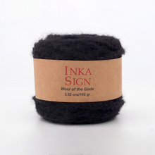 Load image into Gallery viewer, Black Alpaca yarn premium