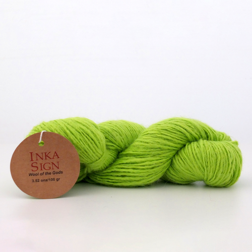 Alpaca wool yarn Lime Green