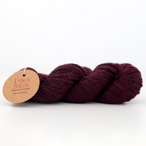 Alpaca wool yarn Cherry