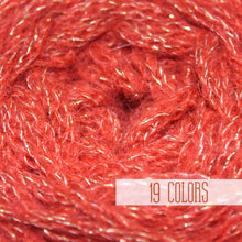 Load image into Gallery viewer, Alpaca Yarn Red With Lurex