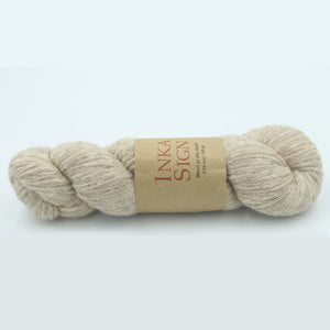 Aran Weight Yarn Baby Alpaca Cotton Beige