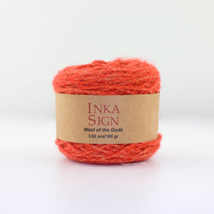 Orange w/ Lurex Baby Alpaca Yarn
