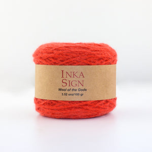Orange Baby Alpaca Yarn
