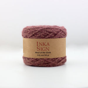 Washed Red w/ Lurex Baby Alpaca Yarn