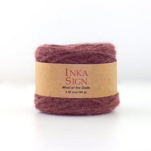 Washed Red Baby Alpaca Yarn