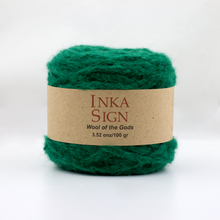Load image into Gallery viewer, Green Alpaca yarn premium