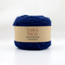 Load image into Gallery viewer, Navy Alpaca yarn premium