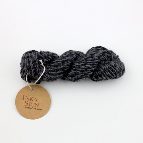Twisted Gray Alpaca wool yarn