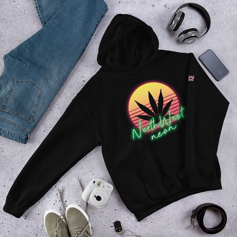 NEON CANNABIS Hooded Sweatshirt