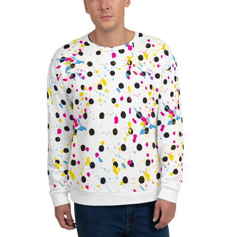 Classic Paint Splash Unisex Sweatshirt