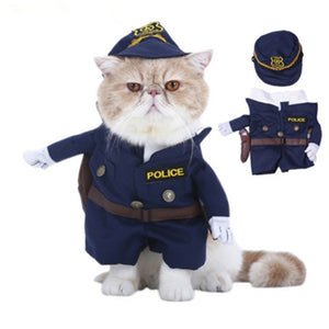 Costume Cosplay Halloween police / chérif pour chats et chiens - ChatLheure