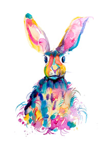 Pink Hare A3 Print