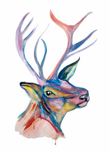 Pastel Stag A3 Print