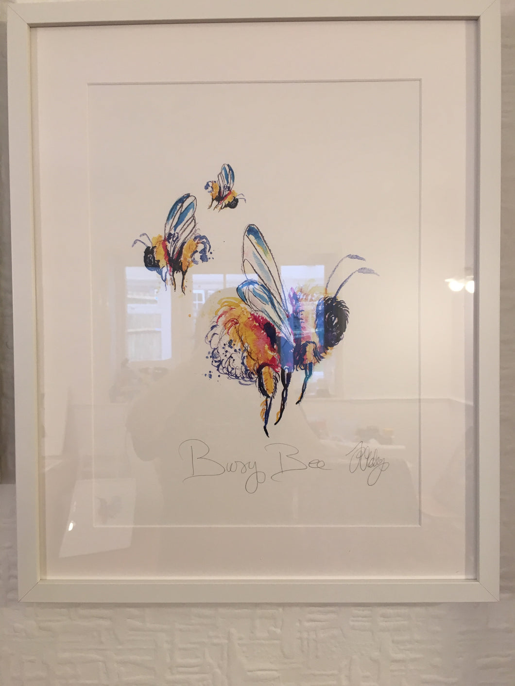 Framed busy bee print