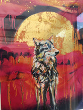 Load image into Gallery viewer, Wolf 24ct gold leaf