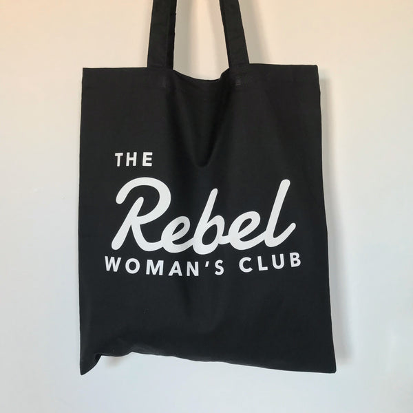 Black Rebel Woman Tote Bag