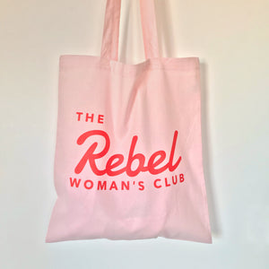 Pink Rebel Woman Tote Bag