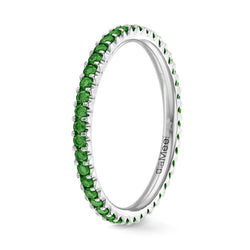 Bague Diamants Green Forest Serti 2 griffes Prestige - Tour complet 1.5 mm / 0,50 carat