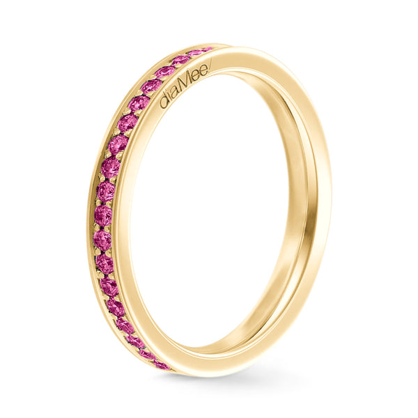 Bague Diamants violets Serti 4 grains-rails - Tour complet 1.5 mm / 0,50 carat