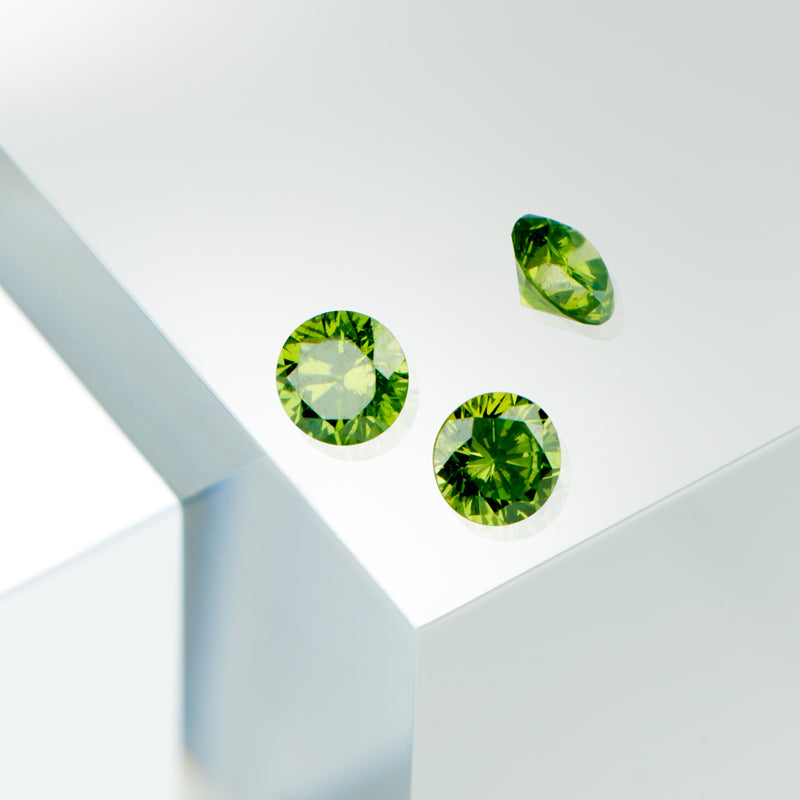 Bague Diamants Apple Green Serti 2 griffes Prestige - Tour complet 1.5 mm / 0,50 carat