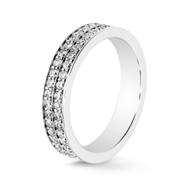 Bague Diamants Lovelines - 2 rangs