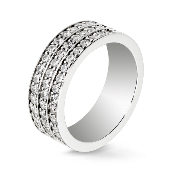 Bague Diamants Lovelines - 3 rangs