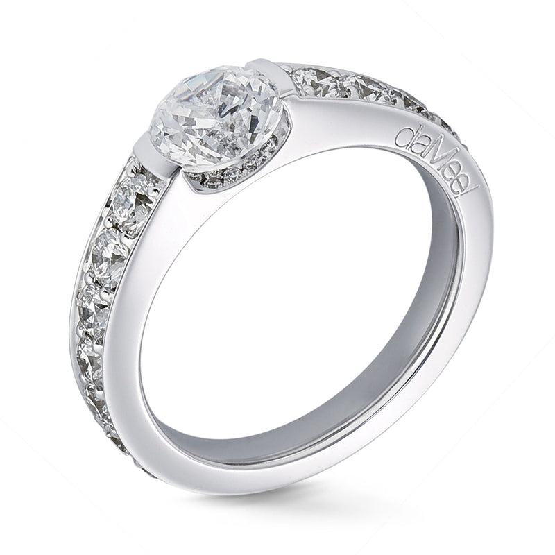 Bague de fiancailles - Collection N°02 Pavage diamants blancs
