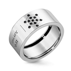 Bague Diamants noirs Atomeec