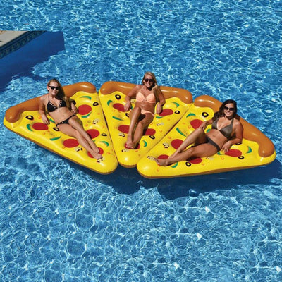 Cute Giant Pizza Shape Inflatable Swimming Pool Float Mattress Lounger Raft