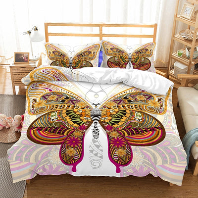 Beautiful Butterfly Duvet Cover Bedding Set with Pillowcases